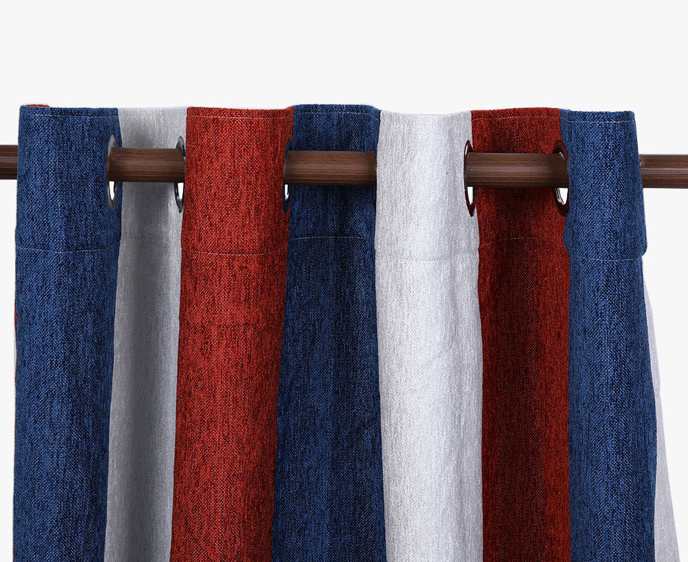 Chenille Striped Blackout Curtain