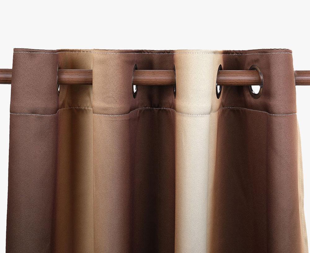 Gradient Color Printing Blackout Curtain