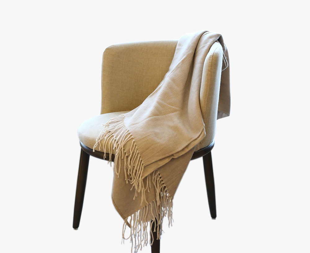 Wool-Like Tassel Blanket
